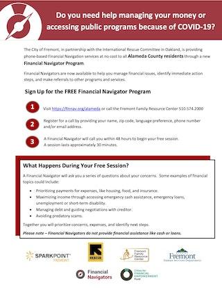 Flyer for Financial Navigators