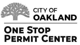 City of Oakland One Stop Permit Center Black on White Graphic