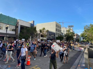 Protest crowd