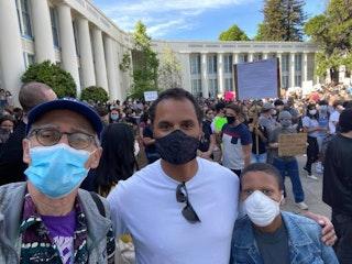 Dan & Staff at protest
