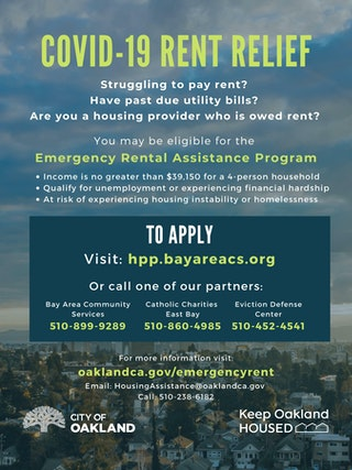 Covid-19 Financial Relief flyer