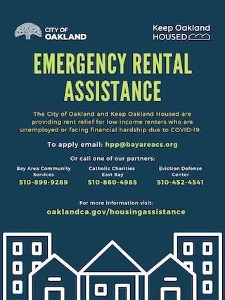 Emergency RentalvAssistance flyer