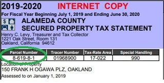 Example APN from Alameda County Property