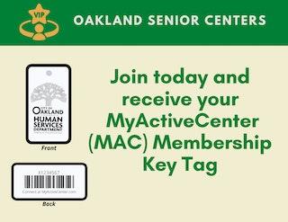 Senior Centers Membership Key Tag Logo