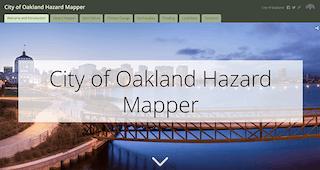 Oakland Hazard Mapper Screenshot