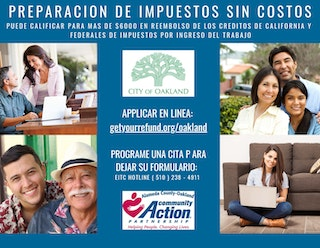 No Cost Tax Prep Flyer in Spanish