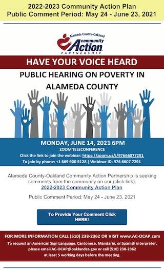 Public Hearing Annoucement