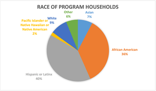 Chart showing race of program households