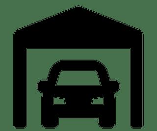 Detached garage or carport graphic icon