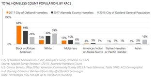 Total homeless count population by race