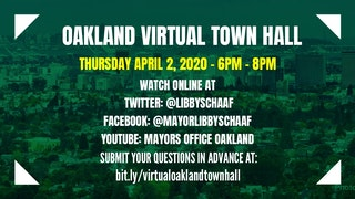 Oakland Virtual Town Hall Flyer