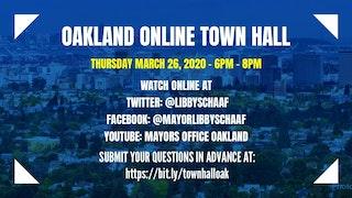 Oakland Online Townhall Flyer