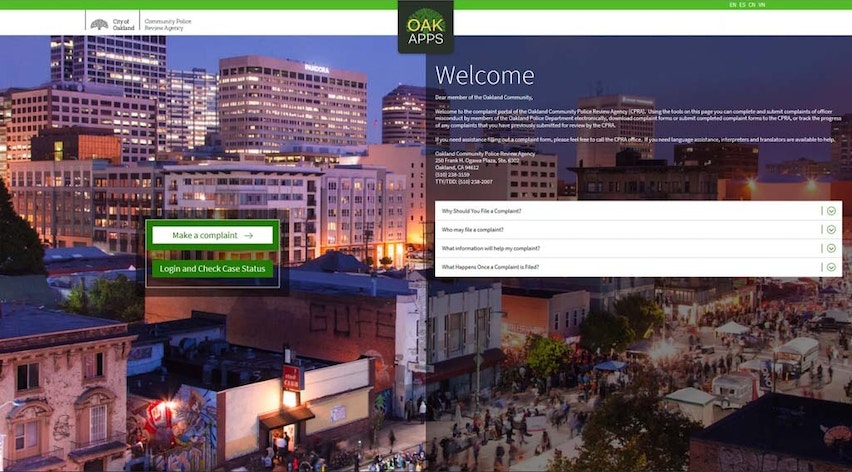 City of Oakland | New App Allows Oakland Community to File Complaints…