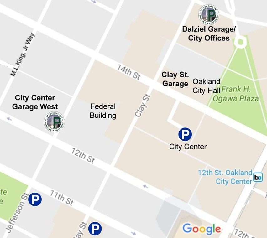 City Of Oakland Clay Street Garage In Downtown Oakland Closes Due