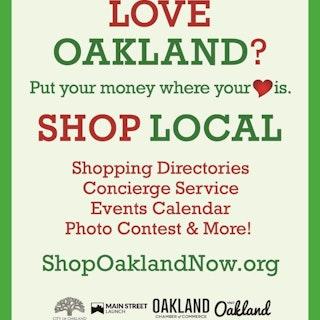 Love Oakland? Shop Local campaign graphic