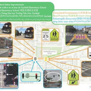 Map of safety improvements at Garfield Elementary