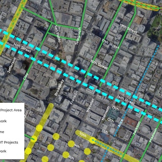 Map of Project: 14th Street Safety Project
