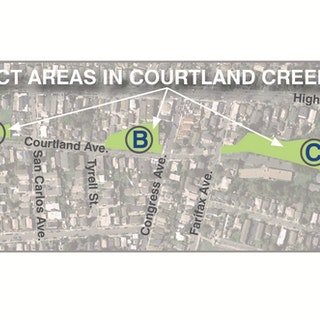 Map of Project: Courtland Creek Restoration Project