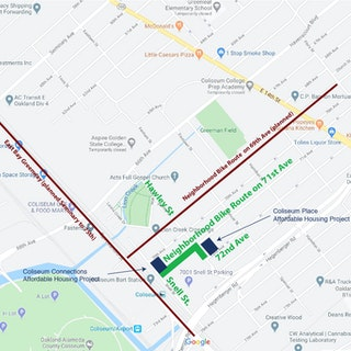 Map of Project: Oakland Intermodal Terminal Coliseum BART Project  (Final Phase Pedestrian Improvements)