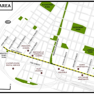 8th Street Location Map8th Street West Oakland Traffic Calming Project