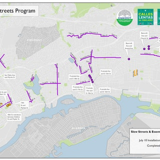 Map of Project: Oakland Slow Streets