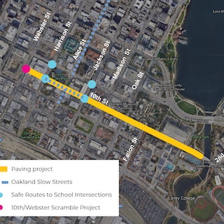 Map of Project: 10th Street Improvement Project