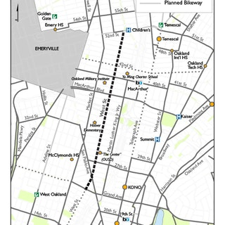 Map of Project: West Street Road Diet Project